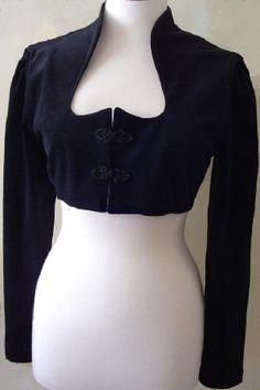 Knot front spencer jacket