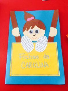 Pasta de fichas School, Envelopes, Tableware, Cover, Room Organization, Kid Activities, Preschool, Ideas, Carnival