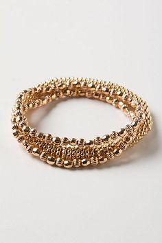 Golden Totem Bracelet Set, $24.00, #anthropologie