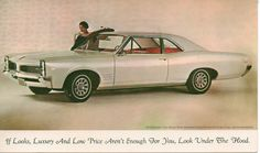1966 Pontiac Dealer Post Card. Tempest Sport Coupe OHC 6