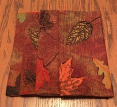 Items similar to Cloth Dinner Napkins - Falling Leaves, Autumn Design - Handmade - Eco Friendly on Etsy Cloth Dinner Napkins, Falling Leaves, Leaf Design, Autumn Leaves, Eco Friendly, Etsy Shop, Orange, Rugs, Brown