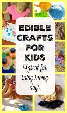 Easy and fun edible crafts for kids you can do at home. Great for rainy or snowy day activities with kids.