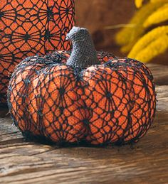 Crochet Pumpkin Halloween Accent
