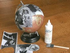 Kay's Keepsakes: Altered Globe- Kay's Keepsakes: Altered Globe Kay's Keepsakes: Altered Globe - Globe Crafts, Map Crafts, Diy And Crafts, Creative Gifts For Boyfriend, Birthday Gifts For Boyfriend, Boyfriend Gifts, Bf Gifts, Cute Gifts, Globe Art