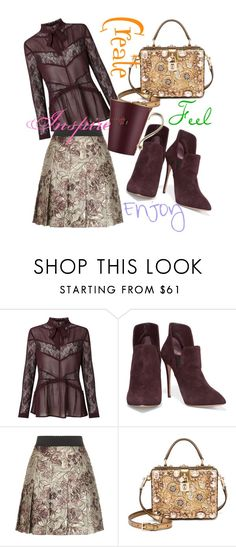 """""""4 Directions"""" by april-wilson-nolen ❤ liked on Polyvore featuring Miss Selfridge, Casadei, Dolce&Gabbana and Prouna"""