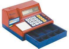 Cash Register This award winning cash register is a working solar-powered calculator and holds life-sized money.