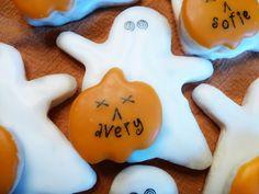 cute ghost/pumpkin cookies