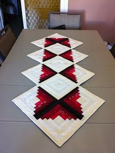 Log Cabin table runner.