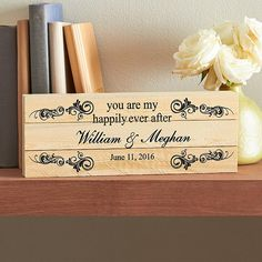 Send You Are My Happily Ever After Mini Wood Pallet and other personalized gifts at Personal Creations. Best Bridal Shower Gift, Memorial Day Sales, Wood Plaques, Happy Endings, Happily Ever After, Wood Pallets, Love Story, Place Card Holders, Mini