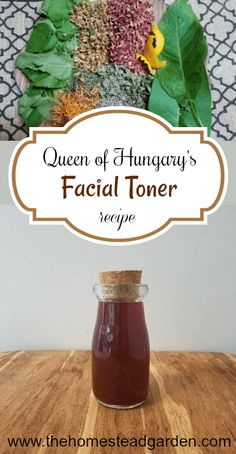 Queen of Hungary's Facial Toner Recipe - Skin Care Toner For Face, Facial Toner, Hair Toner, Beauty Care, Diy Beauty, Beauty Tips, Beauty Products, Beauty Trends, Beauty Secrets