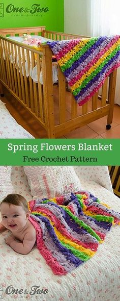 Make this fun blanket for a touch of color to your baby's room. Use the colors that you like and and create amazing combinations. #freecrochetpattern #freecrochet #crochet3 #easycrochet #patterncrochet #crochettricks #crochetitems #crocheton #thingstocrochet