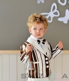 "Suit ""Cinnamon with Vanila"" for your wonderful joyful boys. by SALZARRA on Etsy"