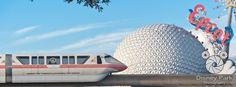 Disney Park Photography - Photo: Facebook Cover Photo - Epcot Monorail