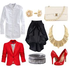Red POP, created by eritter on Polyvore
