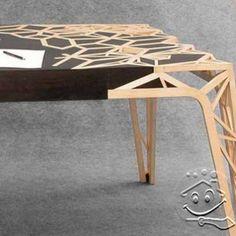 Mosaic Wood Table Design