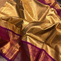 Pattu Sarees Wedding, Wedding Saree Blouse Designs, Half Saree Designs, Silk Saree Blouse Designs, Kanchipuram Saree Wedding, Gold Silk Saree, Bridal Silk Saree, Kanjivaram Sarees Silk, Indian Silk Sarees