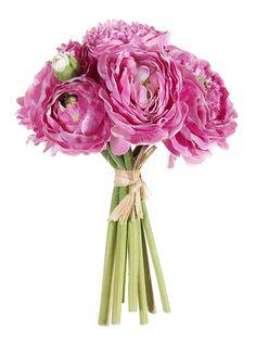"Silk Ranunculus Flowers $13 for 7 9"" flower"