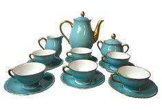 One Kings Lane - Spring for the Meal - Ginori Robin's Egg Blue Tea Set, S/15