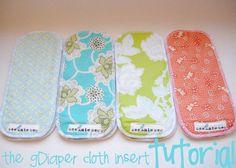 Cloth diaper insert DIY