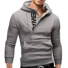 Men's Assassins' Creed Zippered Cotton Sweatshirt Hoodie