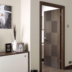 Apollo Chocolate Grey Flush Internal Door is 1/2 Hour Fire Rated and Prefinished - Lifestyle Image. #door #greydoors