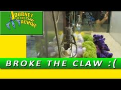 I Broke the Claw Machine! Journey to the Claw Machine Claw Machine, The Claw, Claws, Gadgets, Journey, Toys, Gaming, Games, Gadget