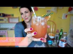 Grapefruit Mimosas | Pinterest Drink #44 | MamaKatTV - YouTube