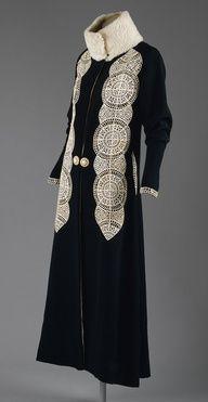 Inspired by historic fashion | www.myLusciousLife.com - Art Deco Coat - c. 1919 - by Paul Poiret (French, 1879–1944). @designerwallace