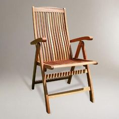 One of my favorite discoveries at WorldMarket.com: Capri Folding Arm Chair