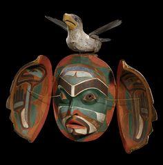 Kwakwaka'wakw (Kwakiutl), transformation mask, ca 1880, Cape Mudge; Comox-Strathcona   District, British Columbia, Canada.