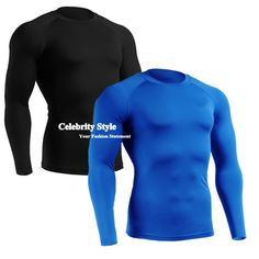 4c0bcebe441 Men s Long Sleeve Sports Running T-Shirts Compression Body Base Layer  Jerseys Under Tops Skins Gear Quick Dry