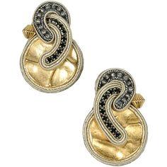 Dori Csengeri Earrings featuring polyvore, fashion, jewelry, earrings, light grey, beaded earrings, dori csengeri, beaded jewelry and beading jewelry