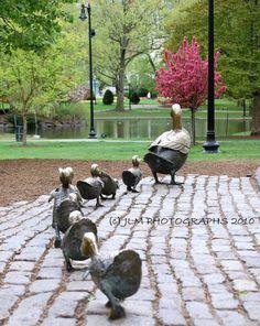 Make Way for Ducklings, Fine Art Print, Boston Landmark, Office Decor, Baby's Room Decor, Playroom Decor, Girls Room Decor, Baby Ducklings