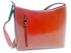 Vera Pelle *Talenti* Purse Shoulder Bag,Red Handbag, Maroon Red #verapelle #SatchelHandbagPurse