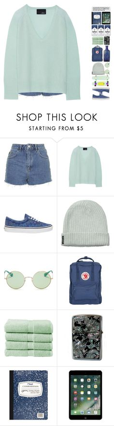 """6378"" by tiffanyelinor ❤ liked on Polyvore featuring Topshop, Line, Vans, Scotch & Soda, Ray-Ban, Fjällräven, Christy, Zippo and Mead"