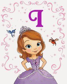 Alfabeto de la Princesa Sofía.   Oh my Alfabetos!