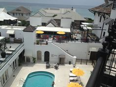 """view from our balcony at """"The Pearl"""" resort overlooking Rosemary Beach"""