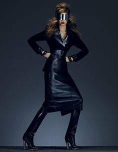 Key looks for autumn 'All-over leather' | Josephine Skriver | Andrew Yee #photography | How To Spend It