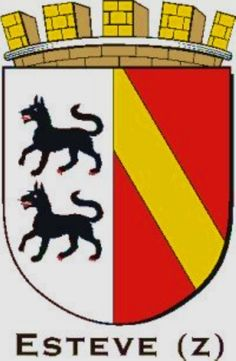 Esteve (z) family Crest Esteve (z) Family Crest Symbols, Crests, Coat Of Arms, Hand Embroidery, Badge, Family Crest, Badges, The Sentence