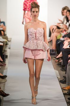 been waiting for shorts to be evening wear my whole life ! #oscardelarenta #nyfw