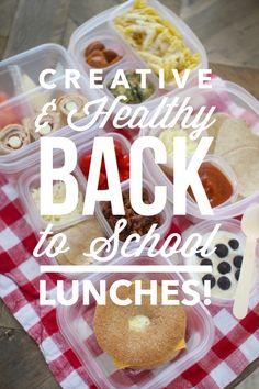 Creative & Healthy Back to School Lunch Ideas!