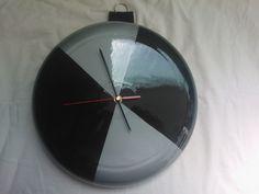 Orologio da Parete Artigianale Argento e Nero da  Collezione Oggetto  Unico Ø 32Cm.di diametro. di affaryonline su Etsy