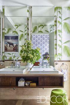 Jungle-Inspired Bathroom - ELLEDecor.com