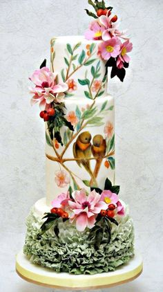 Ideas Wedding Cakes Unusual Fondant - Celebration cakes for women, Party organization ideas, Party plannig business Unusual Wedding Cakes, Creative Wedding Cakes, Elegant Wedding Cakes, Unique Cakes, Beautiful Wedding Cakes, Gorgeous Cakes, Wedding Cake Designs, Pretty Cakes, Creative Cakes