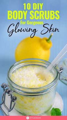 10 Simple Homemade Body Scrubs For Gorgeous, Glowing Skin - 10 Simple Homemade Body Scrubs For Gorgeous, Glowing Skin: No matter how dedicated to the routine yo - Best Body Scrub, Natural Body Scrub, Body Scrub Recipe, Diy Body Scrub, Diy Scrub, Sugar Scrub Homemade, Homemade Skin Care, Diy Skin Care, Skin Care Tips