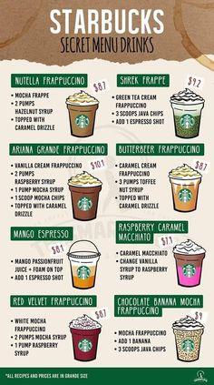 Healthy Starbucks Drinks, Yummy Drinks, Coffee Drink Recipes, Coffee Drinks, Starbucks Secret Menu Drinks, Starbucks Coffee, How To Order Starbucks, Comida Keto, Smoothie Recipes