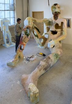 David Altmejd in his studio....oh what a dream to have this space and time