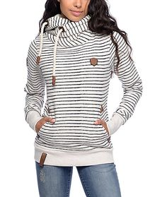 Add a bit of stripe into your life with this popular Murder He Wrote Omas Stripe hoodie from Naketano. The extended, tall cross hood with thick…