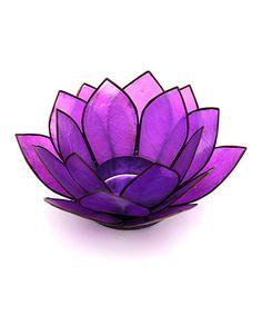 Look what I found on #zulily! Purple Capiz Lotus Tealight Candleholder #zulilyfinds