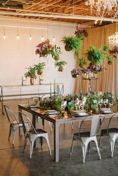 lush woodland inspired dinner party - photo by James Christianson Photography http://ruffledblog.com/lush-woodland-inspired-dinner-party